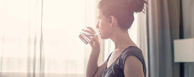 Beber água faz bem à pele